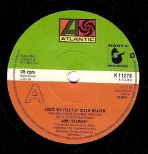 "AMII STEWART Light My Fire/137 Disco Heaven 7"" Vinyl Record Atlantic 1979 EX"