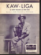 Kaw-Liga 1952 Hank Williams Sheet Music