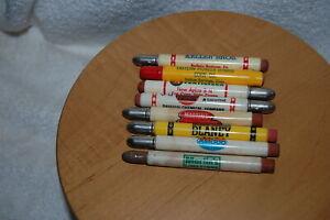 Lot of (8) Advertising Bullet Pencils Farming, Automotive Ford