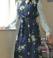 JOIE Abbryana Celadon Blue Chiffon dress UK 16 New Long sleeve floral org £400!