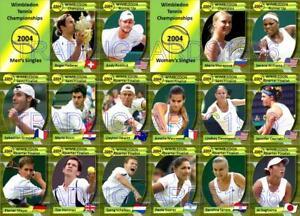 Wimbledon 2004 Tennis Trading Cards Federer Roddick Sharapova Williams