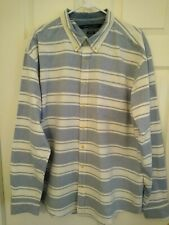 TOMMY HILFIGER Mens Long Sleeve Shirt Extra Extra Large (XXL) Striped Blue White