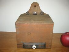 Antique Primitive Wooden Salt Box / Wall Box