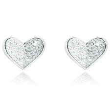 Joma Jewellery Alise Earrings pave crystal love heart studs with gift bag