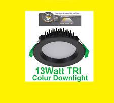 13W DOMUS EVERGREEN TRI LED DOWNLIGHT KIT 3000K 4000k 5000k 90mm 3 Colour select