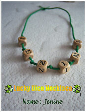 Lucky Dice Necklace JENINE (365/14) S/M New-age, hippy, teen statement fab GIFT
