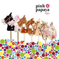 Pink Papaya Steckenpferde - Stockpferd mit Sound: Gewieher und Galoppgeräusche