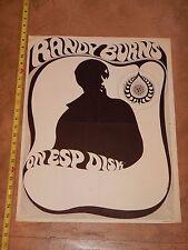 Rare, Original 1960s Randy Burns On Esp Disk Advertising Poster By H. Berstein