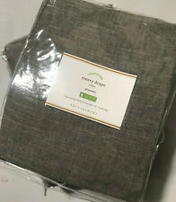 "Pottery Barn Emery Linen/Cotton Grommet Curtain 50"" x 96"" Gray"