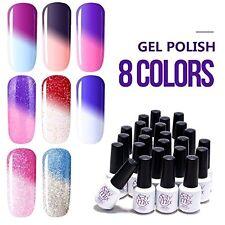 Gel Nail Polish Temperature Color Change UV LED Soak Off Salon Art Manicure 8pcs