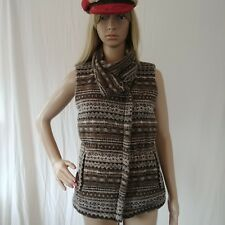 Brown Athleta Womens XS Downabout Goose Down Full Zipper Vest Puffer  $148new
