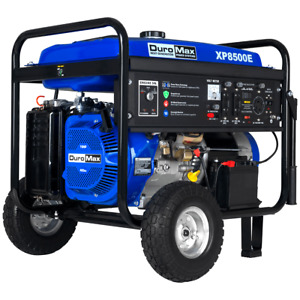 DuroMax XP8500E 8500-Watt 420cc Gas Generator w/ Elect Start and Wheel Kit