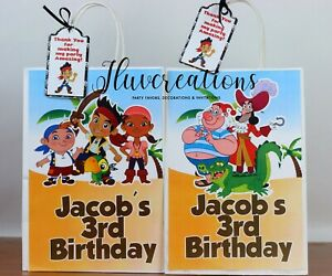 Jake & The Neverland Pirates Treat bags, party favors, birthday decorations