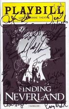 Finding Neverland Signed Autographed Cast Playbill