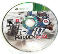 Madden NFL 13 (Microsoft Xbox 360, 2012) DISK ONLY!