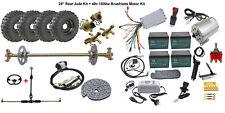 """29"""" Go Kart Cart Rear Live Axle Kit 6"""" Wheels +48V 1800W Brushless Motor Battery"""