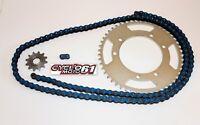 Kit Chaine Renforcé 13x50 Bleu Yamaha DT 50 R Trail 2003 à 2011
