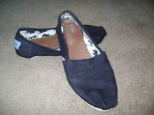 Toms Black Canvas Classic Comfort Slip-On Casual  Flats Size 7