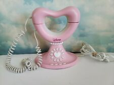 Disney Princess Corded Telephone Phone Pink Heart Rare! Great! Works!