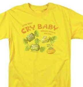 Cry Baby extra sour gum T-shirt retro candy classic graphic tee DBL149 Yellow