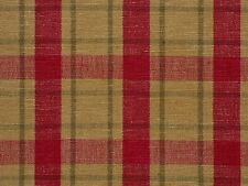 Homespun Woven Plaid BRICK RED Home Decor Drapery Upholstery Sewing Fabric BTY
