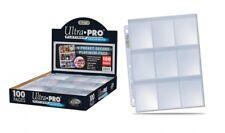 Ultra Pro Platinum Series 100 pages 9-Pocket Secure avec rabats cartes 410976