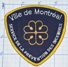 CANADA, VILLE DE MONTREAL FIRE SERVICE D'INCENDIES QUEBEC GOLD EDGE PATCH