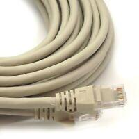 30M GREY RJ45 NETWORK LAN CAT5E CABLE ETHERNET PATCH LEAD ROUTER MODEM PC LAPTOP