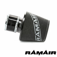 Ramair Black Large Aluminium Base Air Filter With 100Mm Id Silicone Coupling