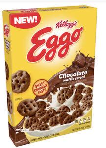 New Eggo Chocolate Flavored Waffle Cereal 8.8 oz Kellogg's