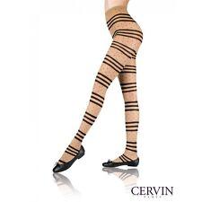 CERVIN PARIS Rejane Fantasy Tights Size 3 Gazelle/Black