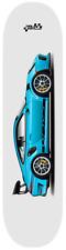 New listing Car Art 991 Skateboard Deck 7-ply canadian hard rock maple Miami blue gt3 rs V4