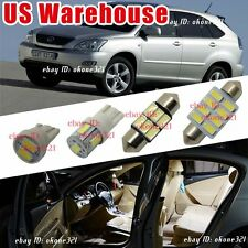 10-pc Luxury Pure White Interior LED Lights Package Kit For 99-03 Lexus RX300