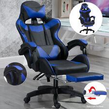 Ergonomic Gaming Racing Chair Computer Office Desk Seat Swivel Recliner Footrest
