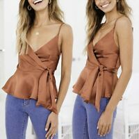 Fashion Women Casual Ladies Top Summer Off Shoulder Casual Solid Color Blouse