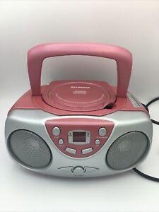 Sylvania Portable CD Radio AM/FM Player SRCD243P Boombox PINK 2011