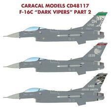 """Caracal Models 1/48 decal CD48117 - F-16C """"Dark Vipers"""" - Pt 2 Have Glass V"""