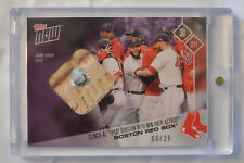 2017 Topps Now Game Used Base Relic Card#676C Boston Red Sox 06/25