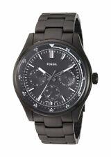 Fossil Men's Belmar FS5576 44mm Black Dial Stainless Steel Watch