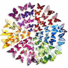24Pcs 3D Butterfly Stickers Home DIY Wall Art Vinyl Decals Kids Room Decoration