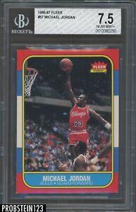 "1986 Fleer Basketball #57 Michael Jordan RC Rookie HOF BGS 7.5 "" RAZOR SHARP """