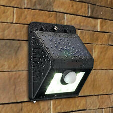 2 x Solar Wall Lights 8 LED SMD Solar Power Outdoor Motion Sensor Light Garden