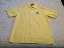 NEW Nike Men's TIGER WOODS Edition Golf Polo US Open 2007 Oakmont Yellow Size L