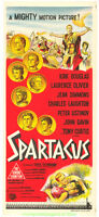 SPARTACUS MOVIE POSTER 1960 KIRK DOUGLAS Original Australian Daybill Size 13x30