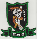 Wartime Cambodian / Khmer Army FANK Program 537th Shock Troop Team Patch (1520)