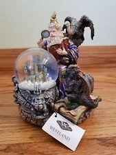 Sf Music Box Co Westland 817 Camelot Wizard Bird Drazon Castle Snow Globe