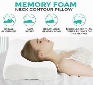 Contour Memory Foam Pillow Neck Back Support Orthopedic Firm Head My Pillows