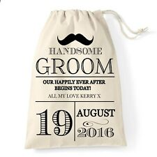 Groom Wedding Gift Bag | Moustache Design | Personalised