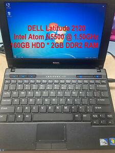 """DELL Latitude 2120_Intel Atom N5500@1.5GHz_160GB HDD_2GB DDR2 RAM_10.1"""" Screen"""