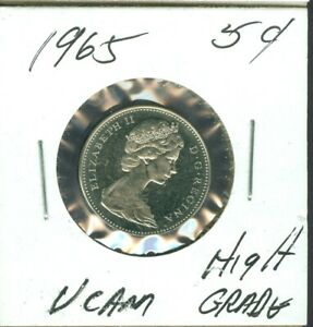 1965 CANADA 5 CENTS  TOP GRADE UCam  55 CENTS FOR SHIPPING
